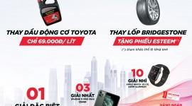Đến Toyota Thái Hòa Từ Liêm làm dịch vụ rinh WIGO, thay dầu 69k