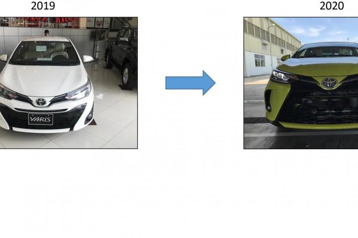 So sánh Toyota Yaris 2019 và Yaris 2020